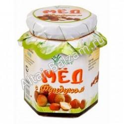 Мед алтайский с фундуком, 220 гр