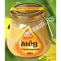 Мед натуральный с гомогенатом, 300 гр.