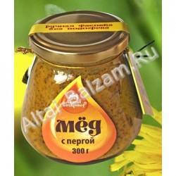 Мед натуральный с пергой, 300 гр.