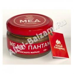 Мед с пантами алтайского марала (порошок), 150 гр