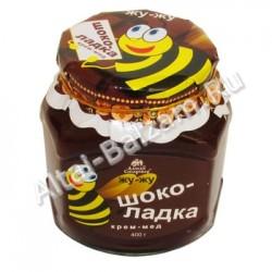 """Крем-мёд серии """"Жу-жу"""" - ШОКОЛАДКА, 400 гр"""