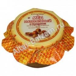 Мед натуральный с фундуком, 250 гр
