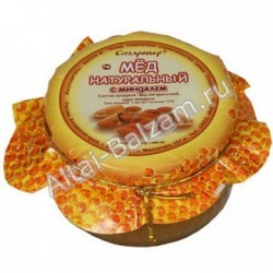 Мед натуральный с миндалем, 250 гр