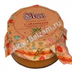 Мед натуральный с облепихой, 250 гр