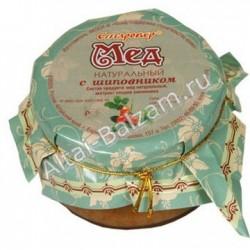 Мед натуральный с шиповником, 250 гр