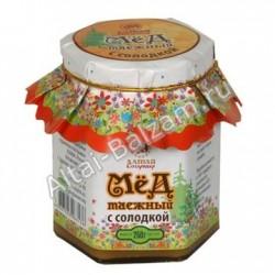 Мед таежный с солодкой, 0.25 кг